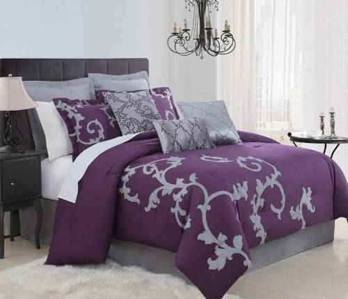 Total Fab Purple Plum Colored Bedding Warm Opulent