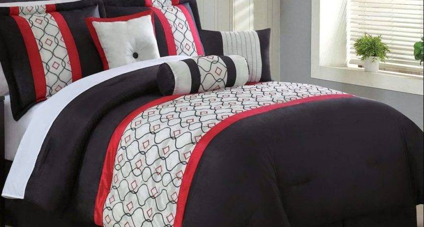 Total Fab Red White Black Comforters Bedding Sets