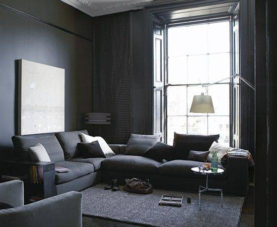 Townhouse Living Gray Room Paint Ideas Grey