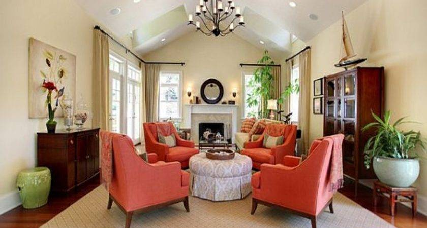 Traditional Living Rooms Ideas Coral Blue Decorating