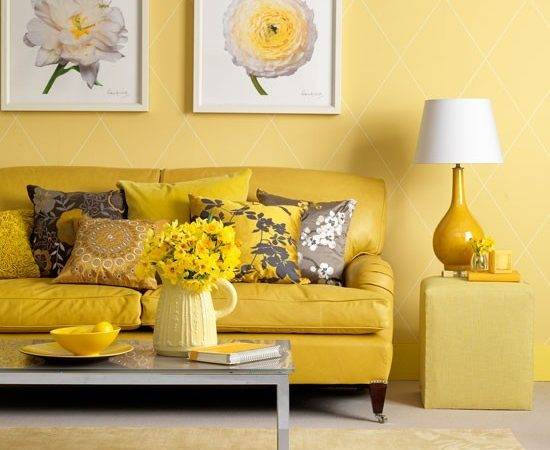 Traditional Style Yellow Living Room Sunshine