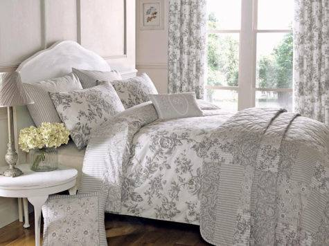Traditional Toile Duvet Quilt Cover Floral Bedding Set