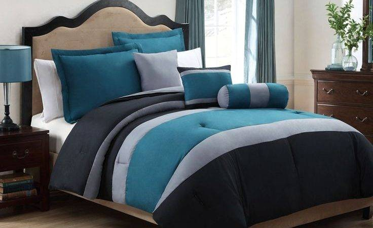 Tranquil Teal Gray Comforter Set Love Colors But