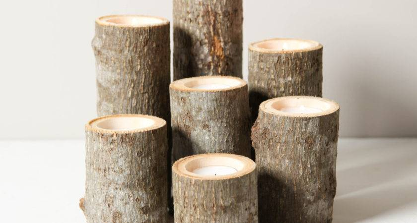 Tree Branch Candle Holders Set Rustic Worleyslighting