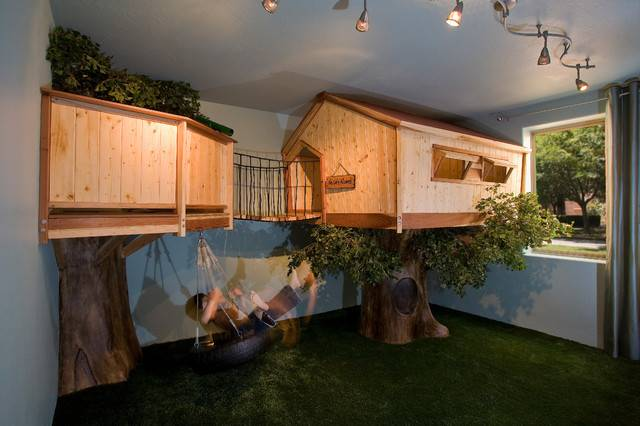 Treehouse Bedroom Traditional Kids Phoenix