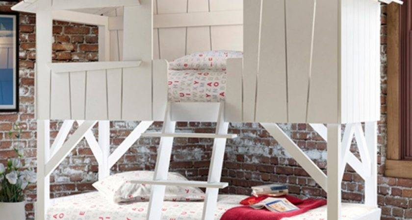Treehouse Bunk Bed White Mathy Bols Diddle Tinkers
