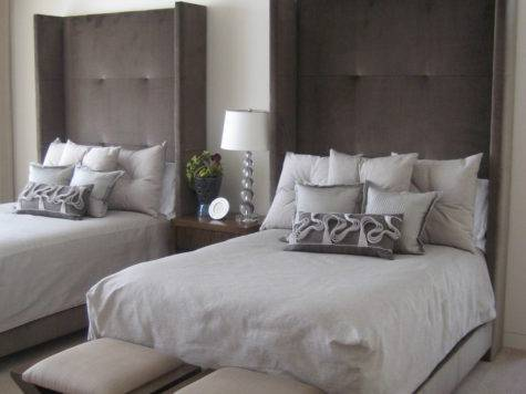 Tremendous Linen Upholstered King Headboard Decorating