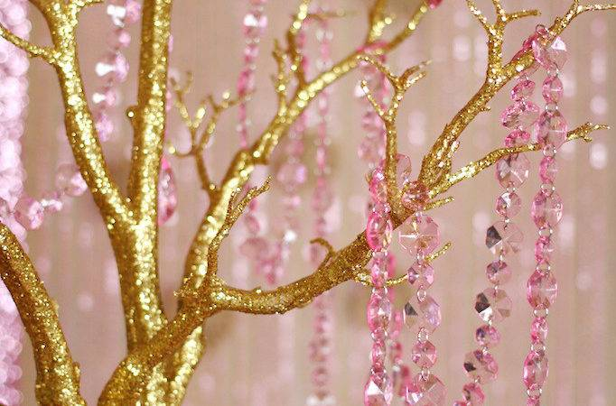 Trend Alert Rustic Glam Pink Gold Wedding Soiree