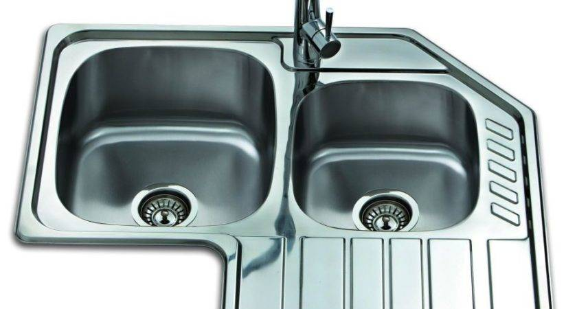 Triangle Topmounted Double Bowl Single Drainer Corner Sink
