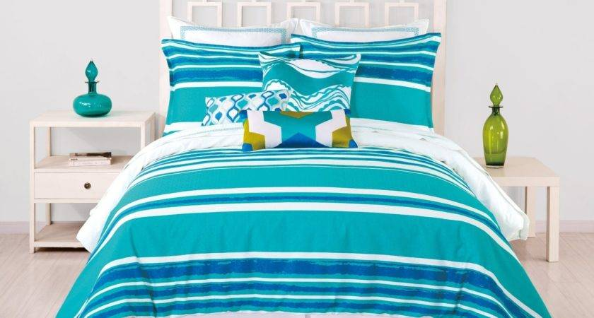 Trina Turk Horizon Stripe King Comforter Set Blue