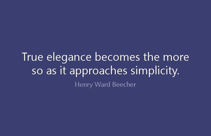 True Elegance Becomes More Henry Ward