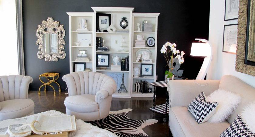 Try Painted Living Room Wall Black Jaimee Rose