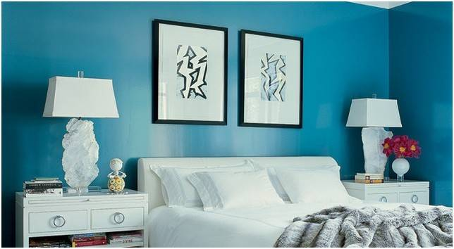 Turquoise Bedroom Wall Paint Photos