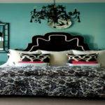 Turquoise Bedrooms Red Black White