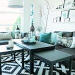 Turquoise Black Living Room Ideas Home Design