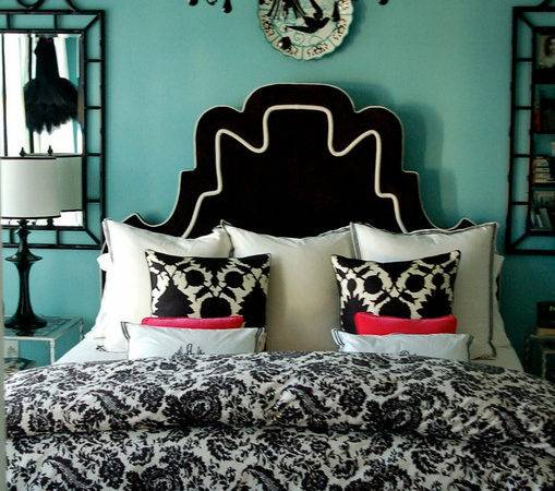 Turquoise Black White Bedroom Ideas Country Home