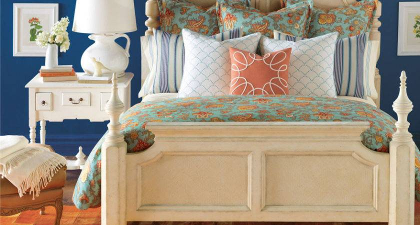 Turquoise Blue Orange Floral Bedding Sets Barclay