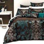 Turquoise Brown Bedding Details Sicilly