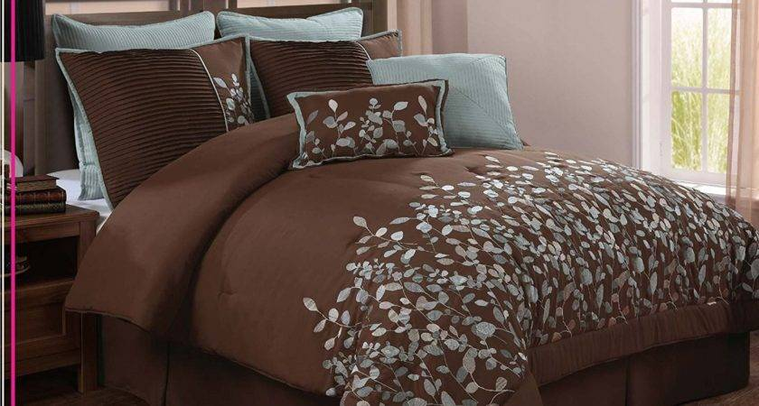 Turquoise Brown Bedding