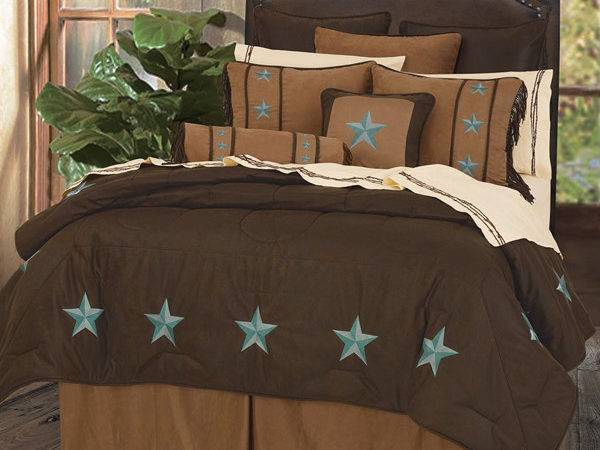 Turquoise Brown Western Bedding