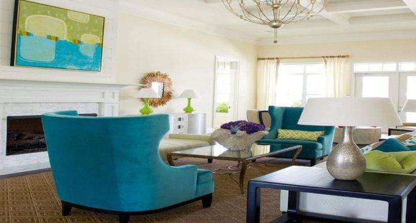 Turquoise Chairs Olive Teal Living Room Red