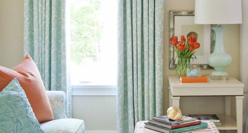 Turquoise Coral Living Room Decor