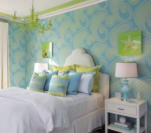 Turquoise Green Teen Girl Room Contemporary