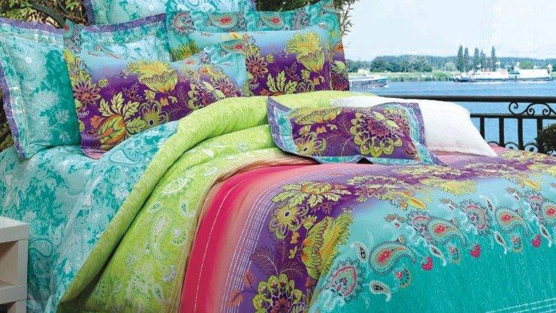 Turquoise Lime Green Purple Red Bohemian Style Luxury