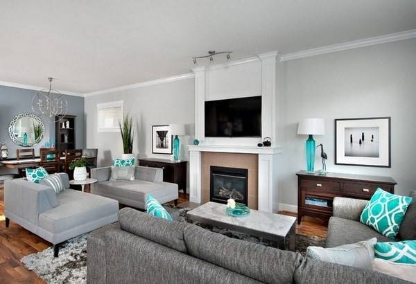 Turquoise Living Room Set Ideas Color Brown