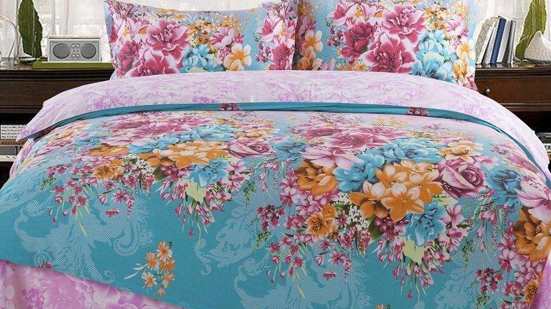 Turquoise Purple Bedding Solid