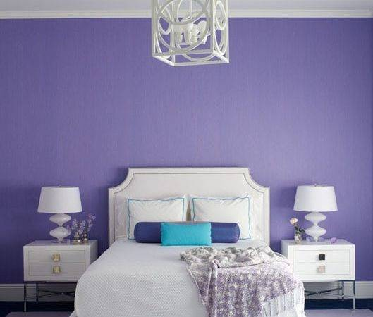 Turquoise Purple Bedroom Walls