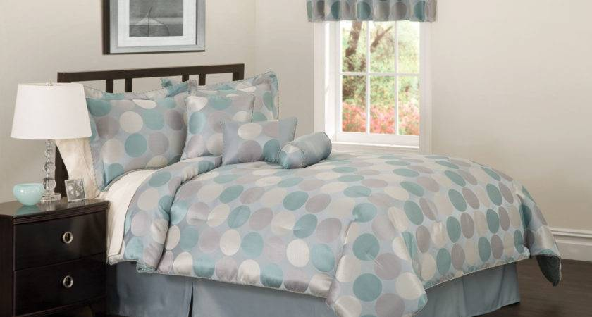 Turquoise Silver Bedding Grey Comforter
