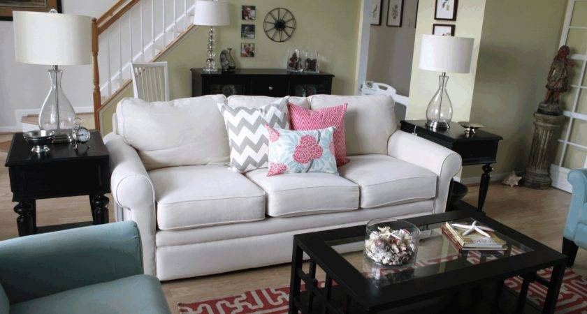 Turquoise Themed Living Room Comfy Tan Colored Loveseats