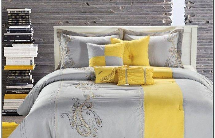Turquoise Yellow Gray Bedding Beds Home Design
