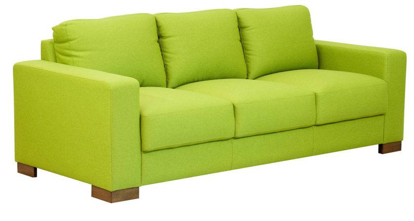 Tushar Three Seater Sofa Citron Green Colour