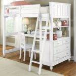 Twin Loft Bed Desk Storage Whitevan