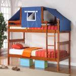 Twin Mission Tent Bunk Bed Espresso Bunkbeds Beds Ebay