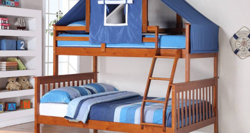 Twin Mission Tent Bunk Bed Espresso Kids