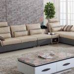 Two Color Combination Leather Sofa Living Room Furniture