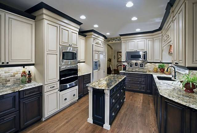 Two Color Kitchen Cabinets Ideas Home Decor Interior