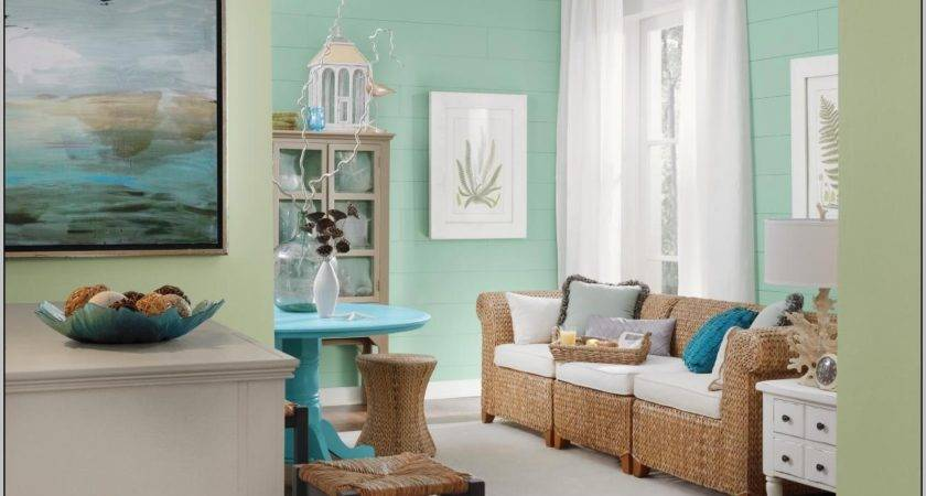 Two Color Living Room Paint Ideas Home Designs