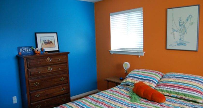 Two Colour Combination Bedroom Walls Blog