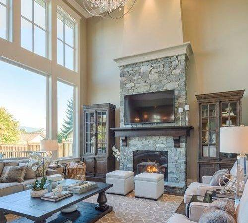 Two Story Great Room Home Design Ideas Remodel