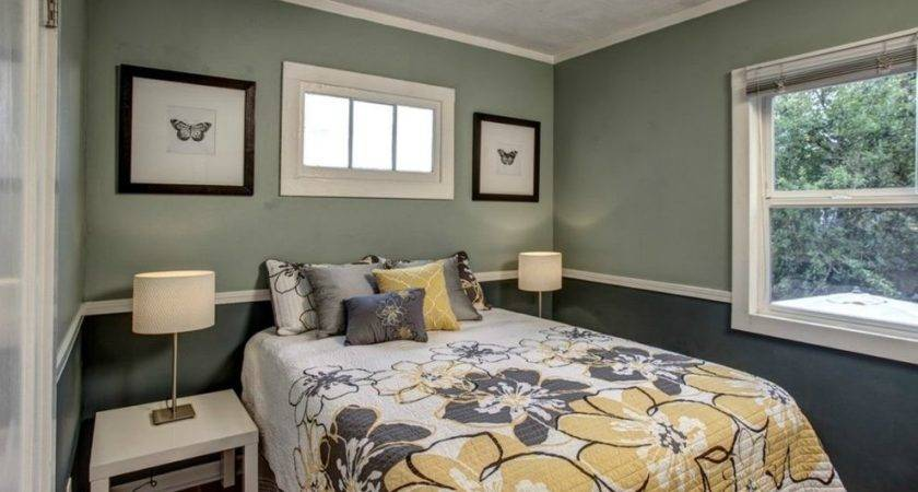 Two Tone Gray Bedroom Interior Design Ideas