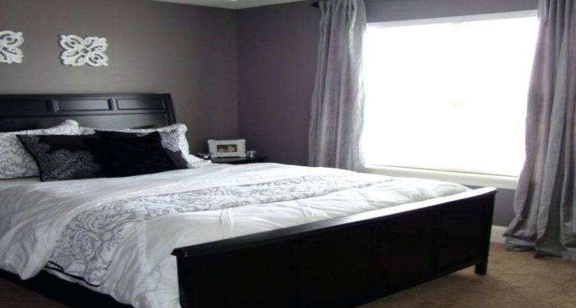 Two Tone Grey Bedroom Periwinkle Color Shelves