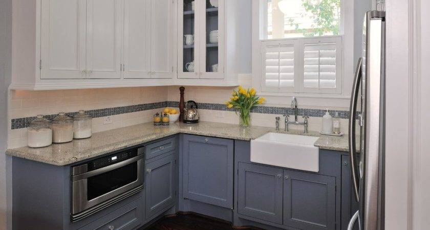 Two Tone Kitchen Paint Transitional Sage