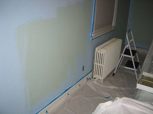 Two Tone Middle Painting Green Bedroom