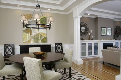 Two Wall Colors Dining Room Living