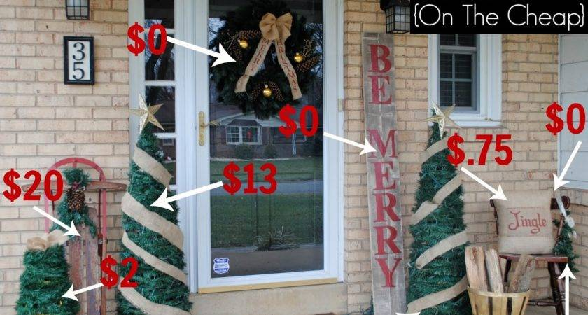 Two Yourself Christmas Front Porch Ideas Cheap