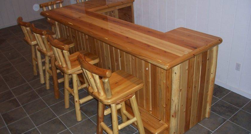 Types Rustic Wood Bar Stools